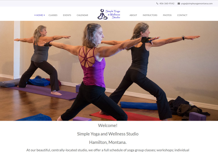 Simple Yoga in the Bitterroot Valley Website Design