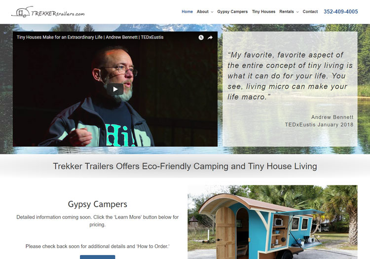 Trekker Trailers in Florida - Website Re-design